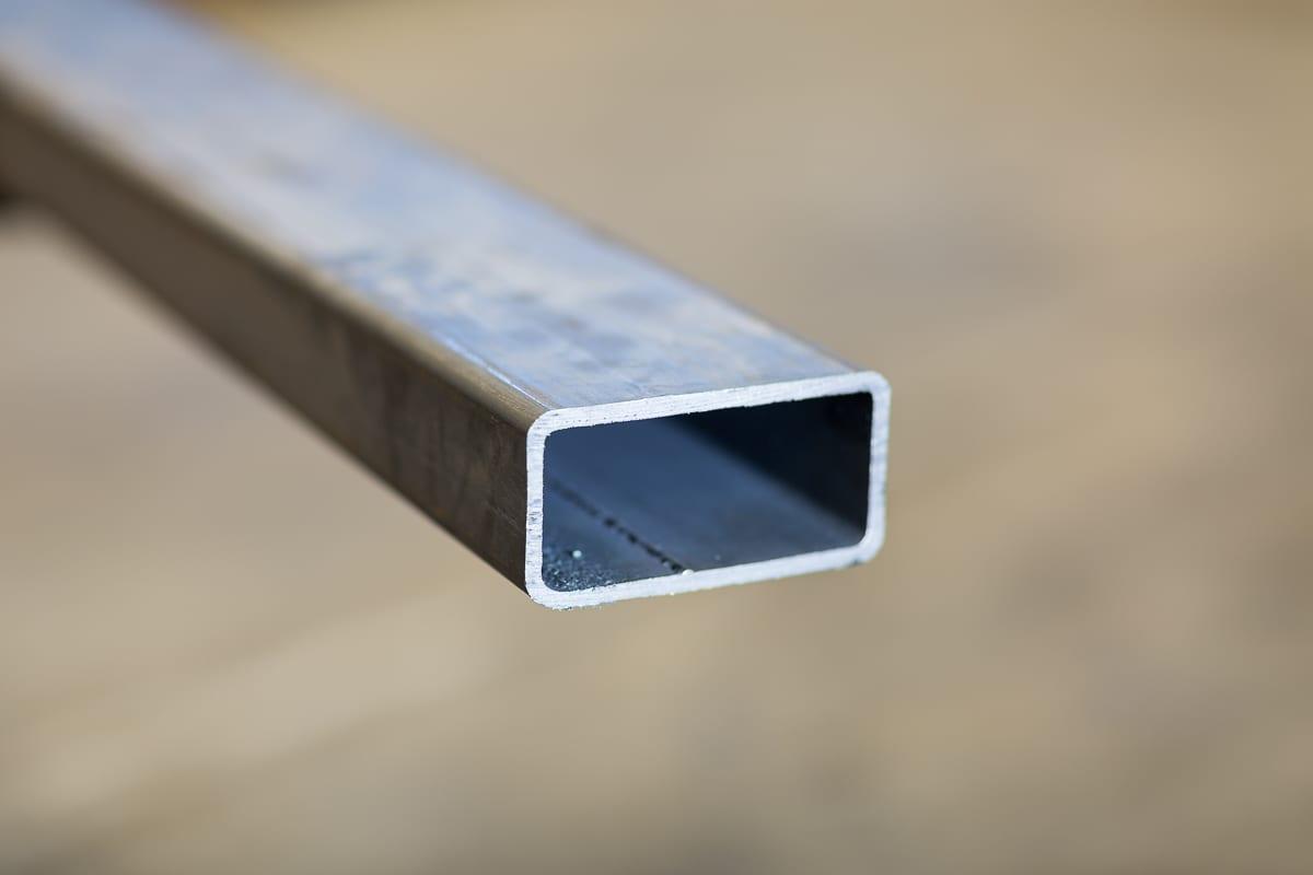Aluminium rektangulärt rör